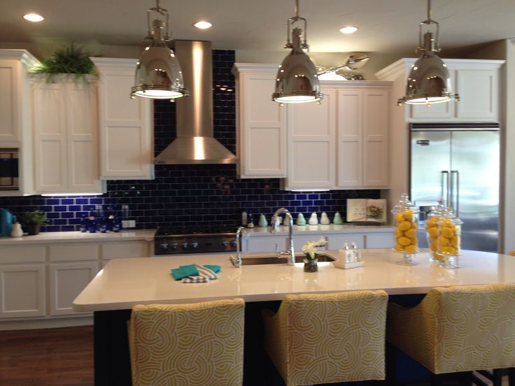 Yellow And Blue Kitchen For The Home Pinterest