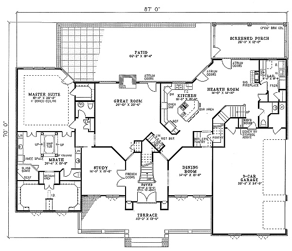Hearth Room Floor Plan Home Floor Plans Pinterest