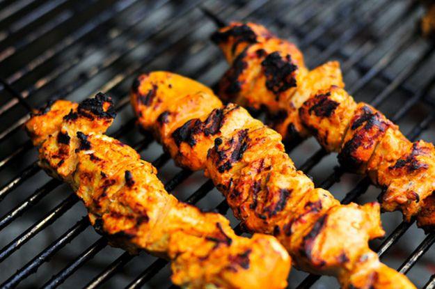 Yogurt Marinated Lamb Kebabs With Tzatziki Recipe — Dishmaps