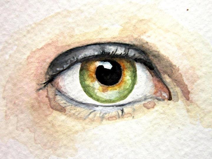 Eye Painting - Custom Eye Portrait - Original Watercolor
