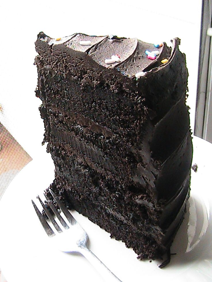 For the Serious Chocolate Lover! Hershey's Decadent Dark Chocolate Cake.