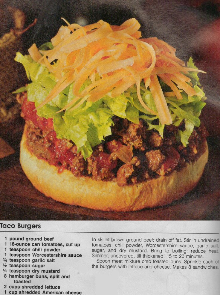 Taco Burgers | What to eat | Pinterest