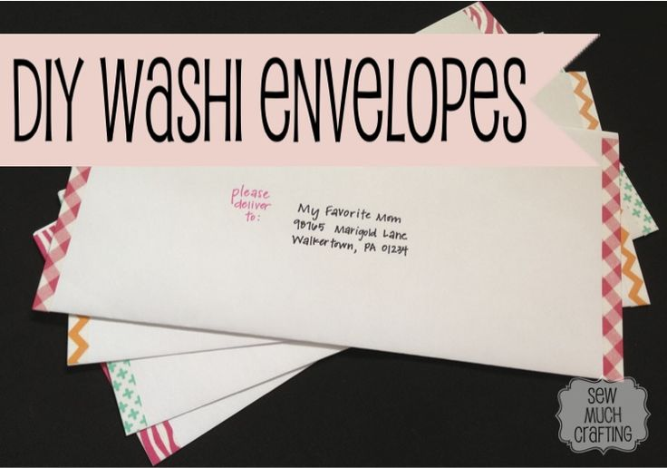 DIY Envelope with Washi Tape