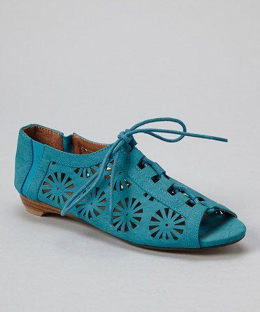 this #zulilyfind! Blue Cutout Peep-Toe Shoe by Fahrenheit #zulilyfinds