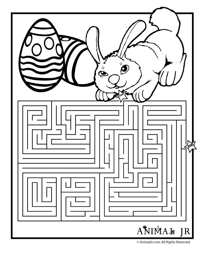 Easter Coloring Page Maze Easter CraftsActivities