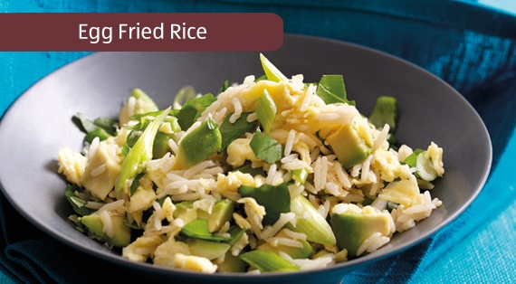 Quick Cooked Egg Fried Rice | Recipes | Pinterest