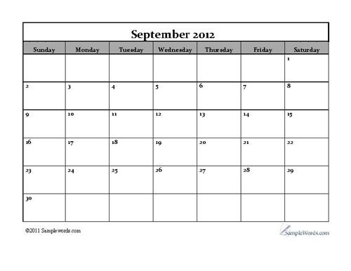 free calendar september 2012   calendar 2012   Pinterest