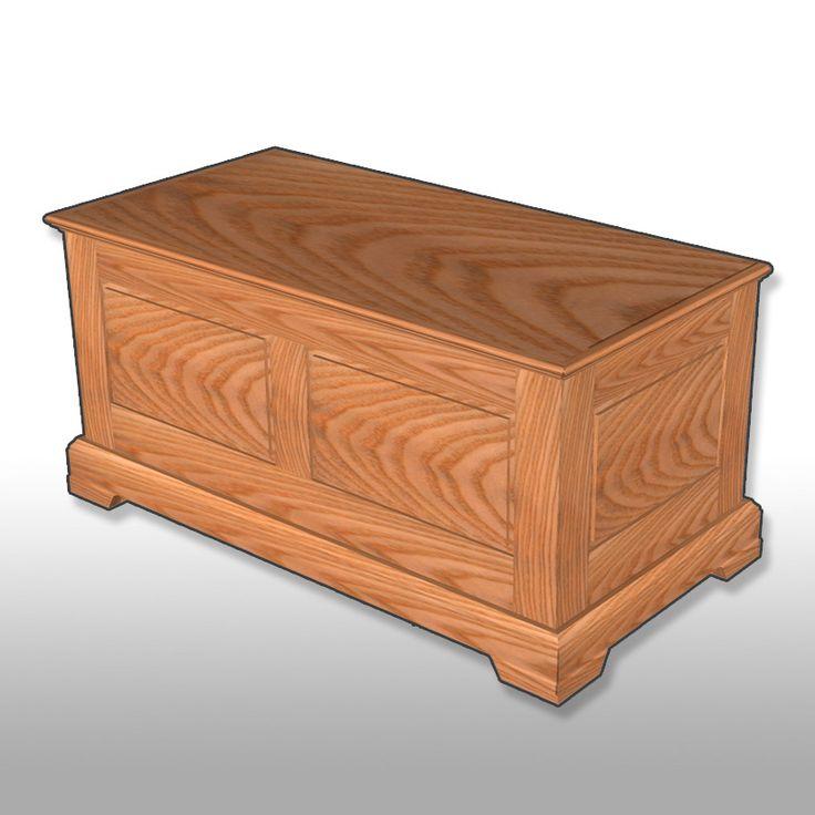 Paneled blanket chest plan 4 h for Blanket chest designs
