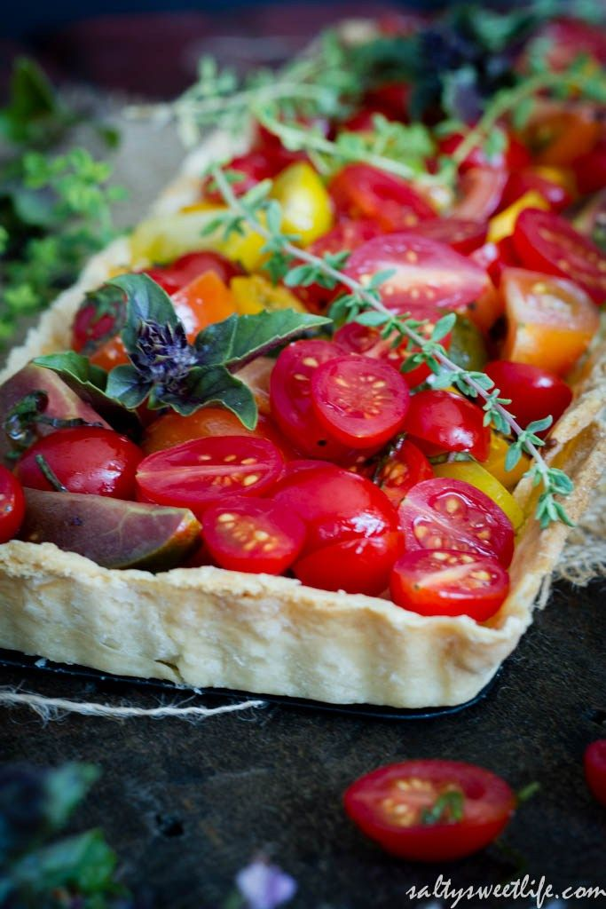 ... Tomato and Herbed Ricotta and Goat Cheese Tart | Salty Sweet Life