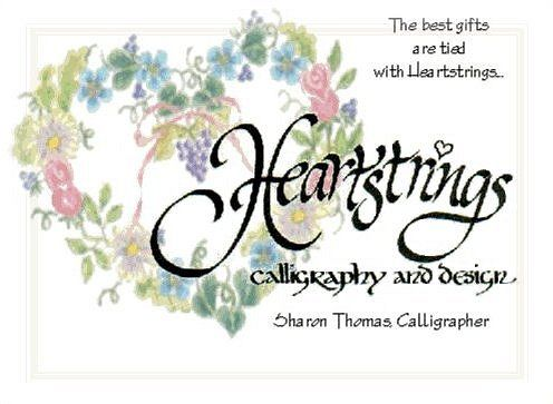 Heartstrings Calligraphy and Design: Hand-done Art and Calligraphy