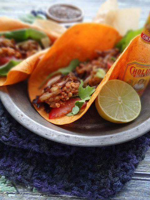 lentil tacos w/ caramelized onion | Nourish | Pinterest