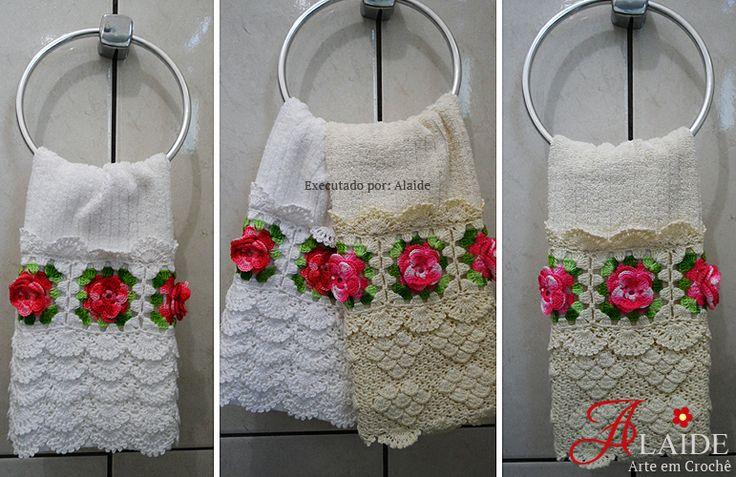 Toallas de ba o por crochet alaide crochet pinterest - Porta toallas para bano ...