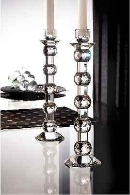 2 12 crystal candlestick dining table decor tall candle for Tall glass dining table