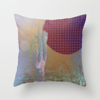 Decorative Pillows Marshalls : Desert Moon Throw Pillow by Bethanie Marshall