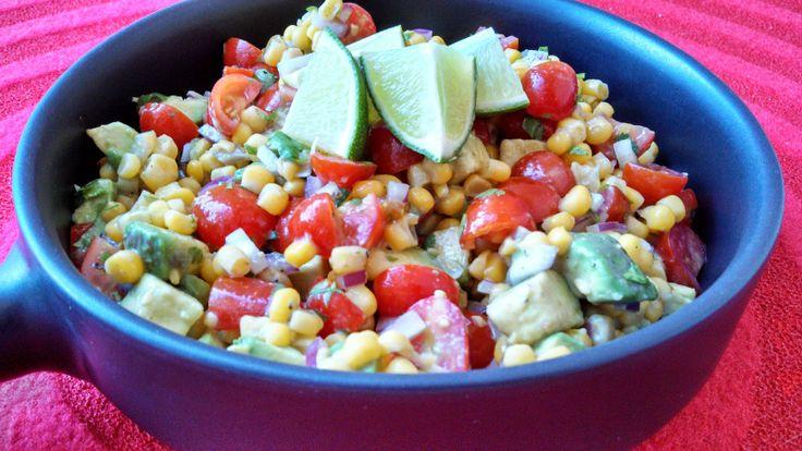 Tomato Avocado Corn Salad | yummies | Pinterest