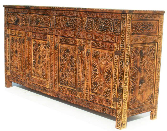 Kinsasha african cabinet moroccan furniture pinterest