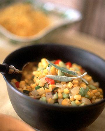 Autumn Vegetable Succotash w/ Zuke & Summer Sq. - Martha Stewart ...