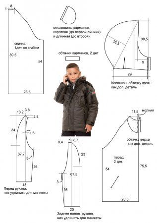 Осенняя куртка мальчик выкройка