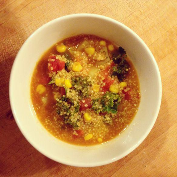 Quinoa and Vegetable Soup {vegan} | kendra eats | Pinterest