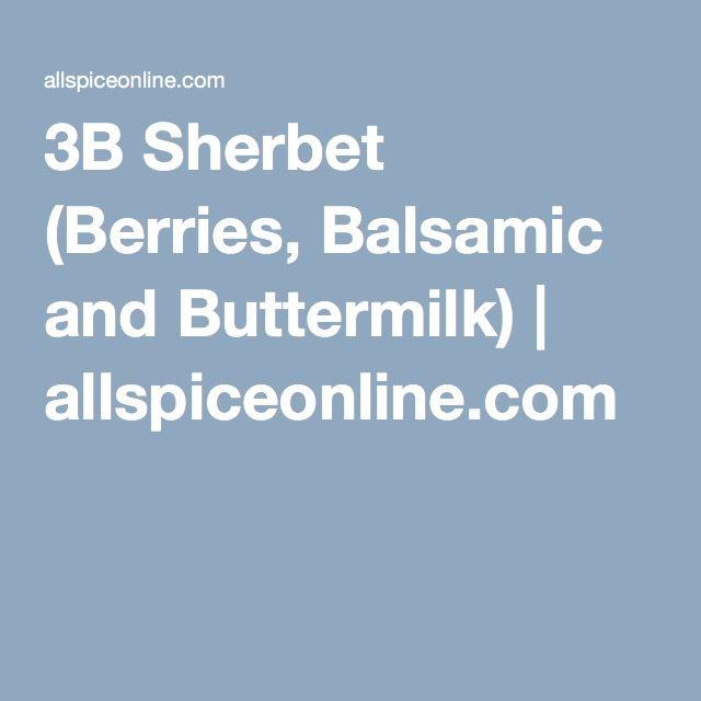 Balsamic Buttermilk Sherbet