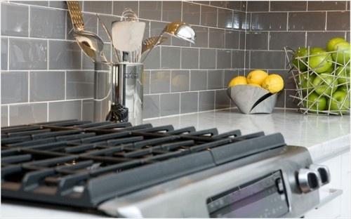 love the gray subway tile backsplash  Kitchen Ideas  Pinterest