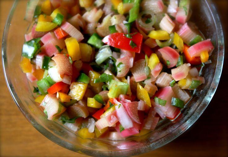 Rhubarb Salsa | Recipes - Other | Pinterest