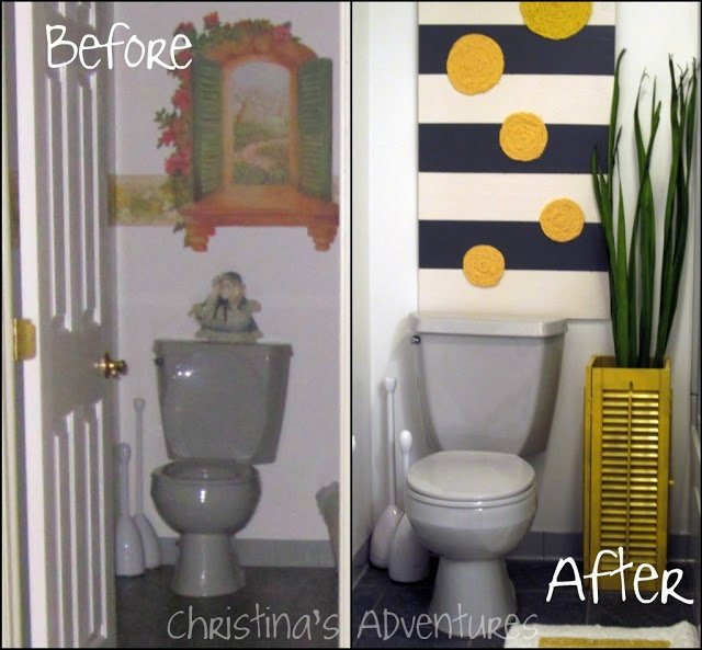 My DIY Bathroom Makeover   For the Home   Pinterest