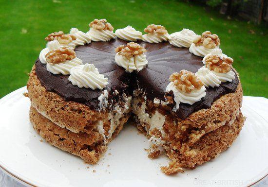 Walnut Mocha Torte Recipe — Dishmaps