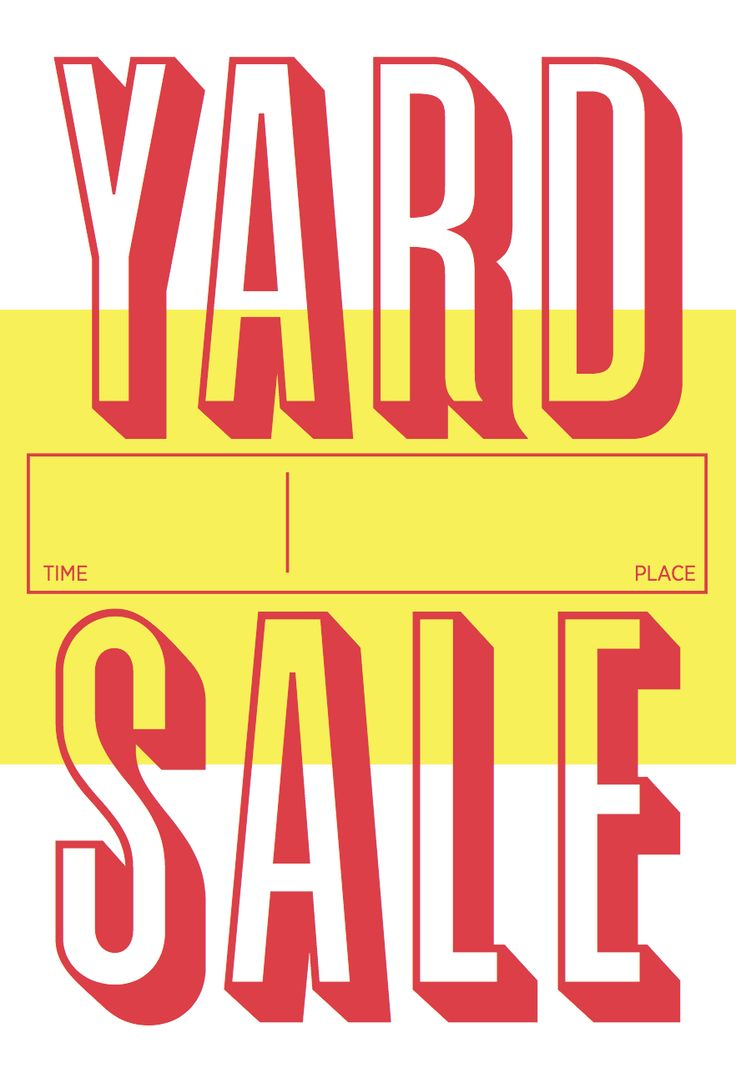 Yard sale poster art creativity pinterest for Poster prints for sale