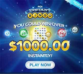 pchbingo com pch bingo $1,000 instant win jackpot