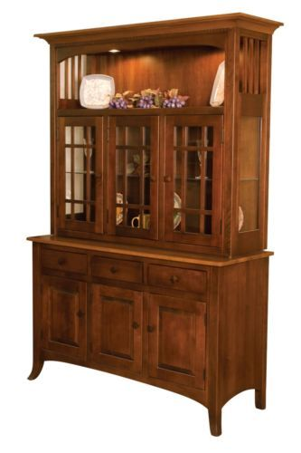 amish dining room hutch country cottage mission china cabinet wood
