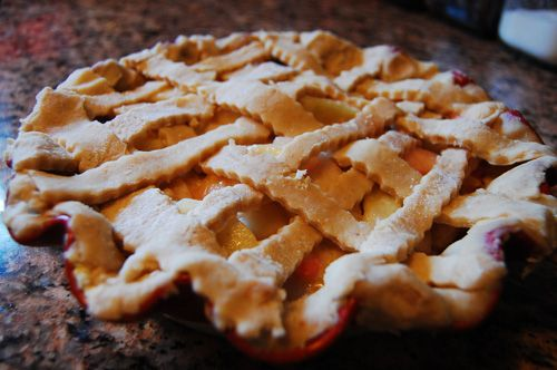 Bourbon White Peach Pie. I need this in my life, pronto!