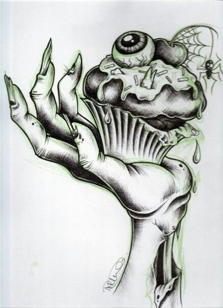 Zombie Cupcake Hand Tattoo Idea Tattoos