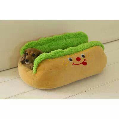 Hot dog bun bed | Dog World | Pinterest