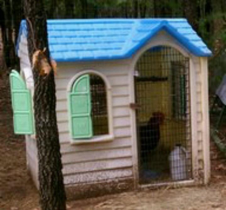 playhouse into chicken coop repurposing ideas pinterest
