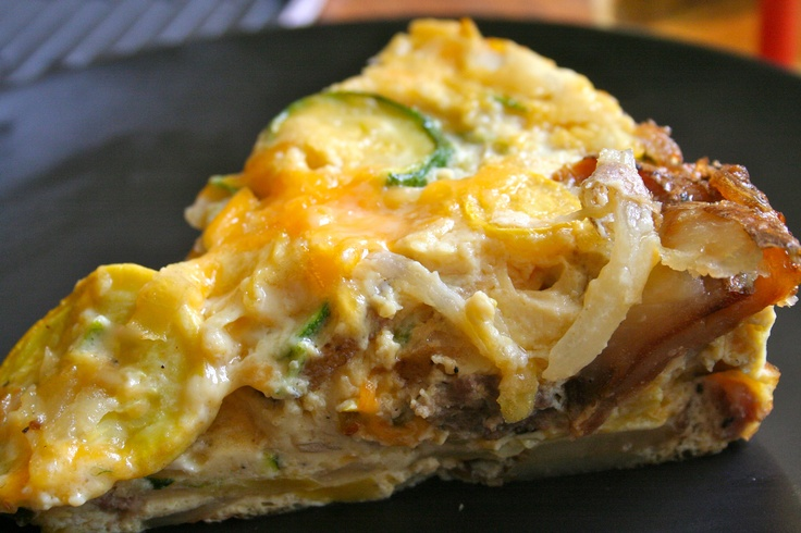 Squash & Potato Frittata. When there are vegetables waiting without ...