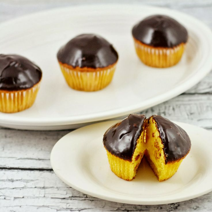 Boston cream pie cupcakes | Recipes | Pinterest
