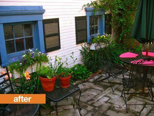 Viewalongtheway Backyard : Before & After Bare Backyard Turned Lush Patio