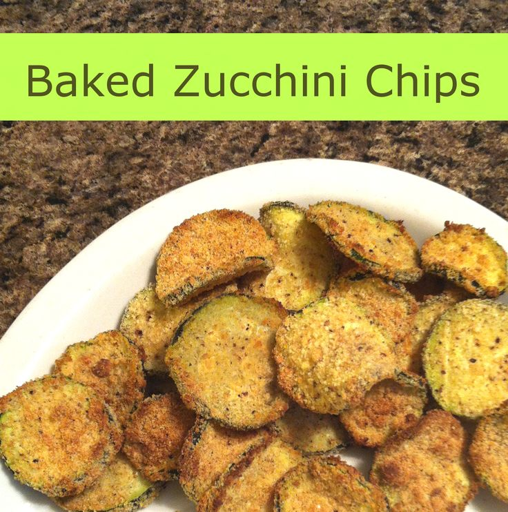 Baked Zucchini Chips Recipe from nutritionistinthekitch.com. For this ...