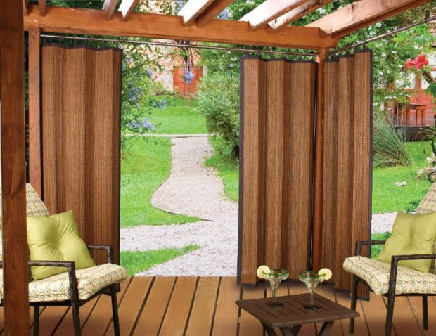 Bamboo Curtains for Outdoors | Backyard privacy | Pinterest