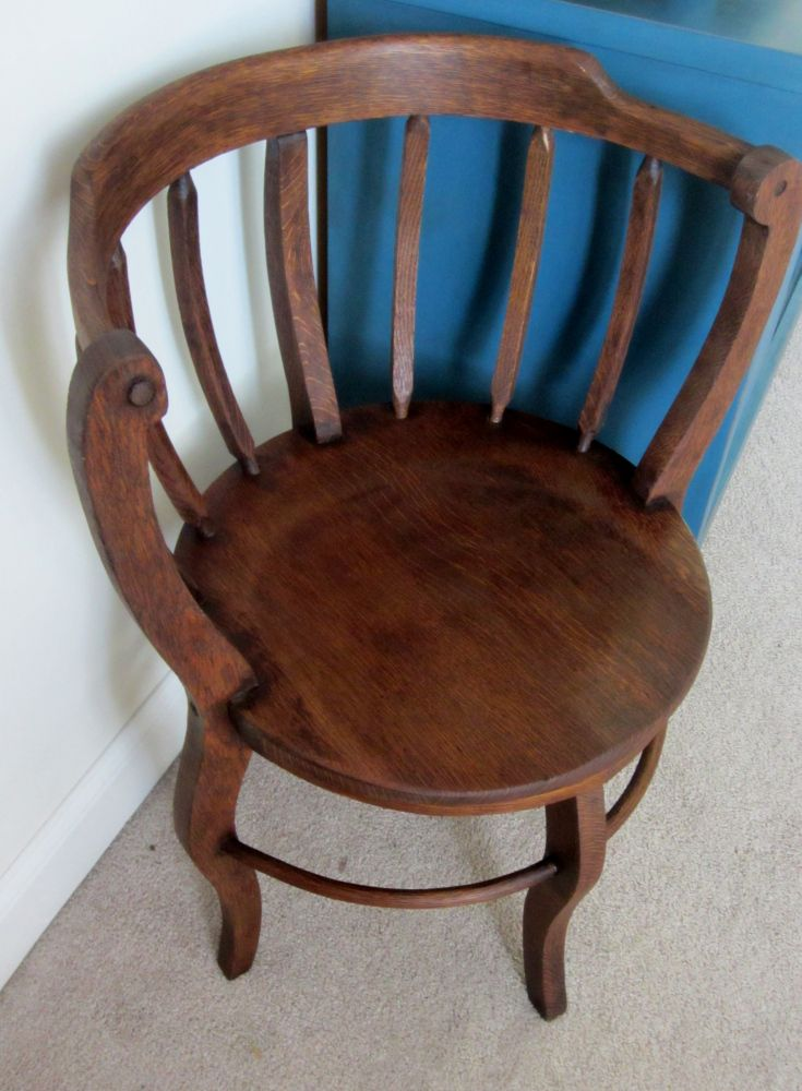 Newly Stained Antique Corner Chair Refinishing Pinterest