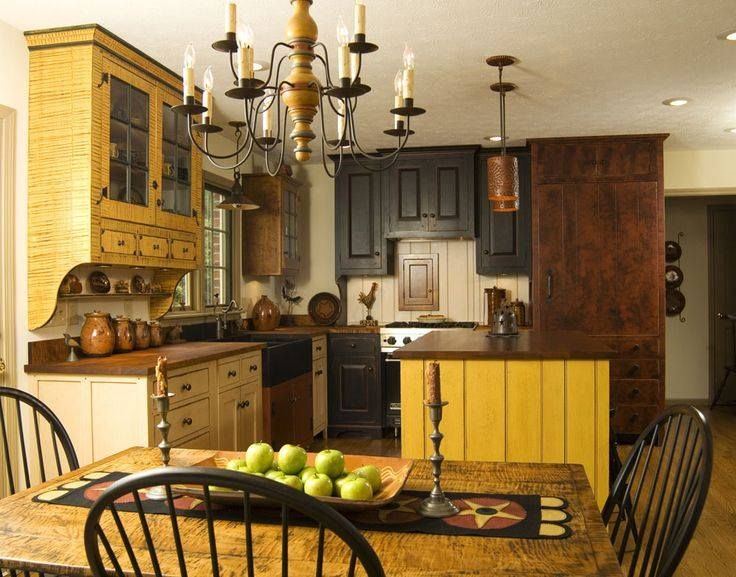 Primitive Country Kitchen Decorating Ideas With Kitchen Design Ideas
