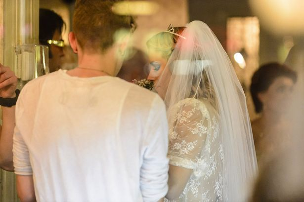Caroline Flack sparks wedding rumours at Las Vegas.