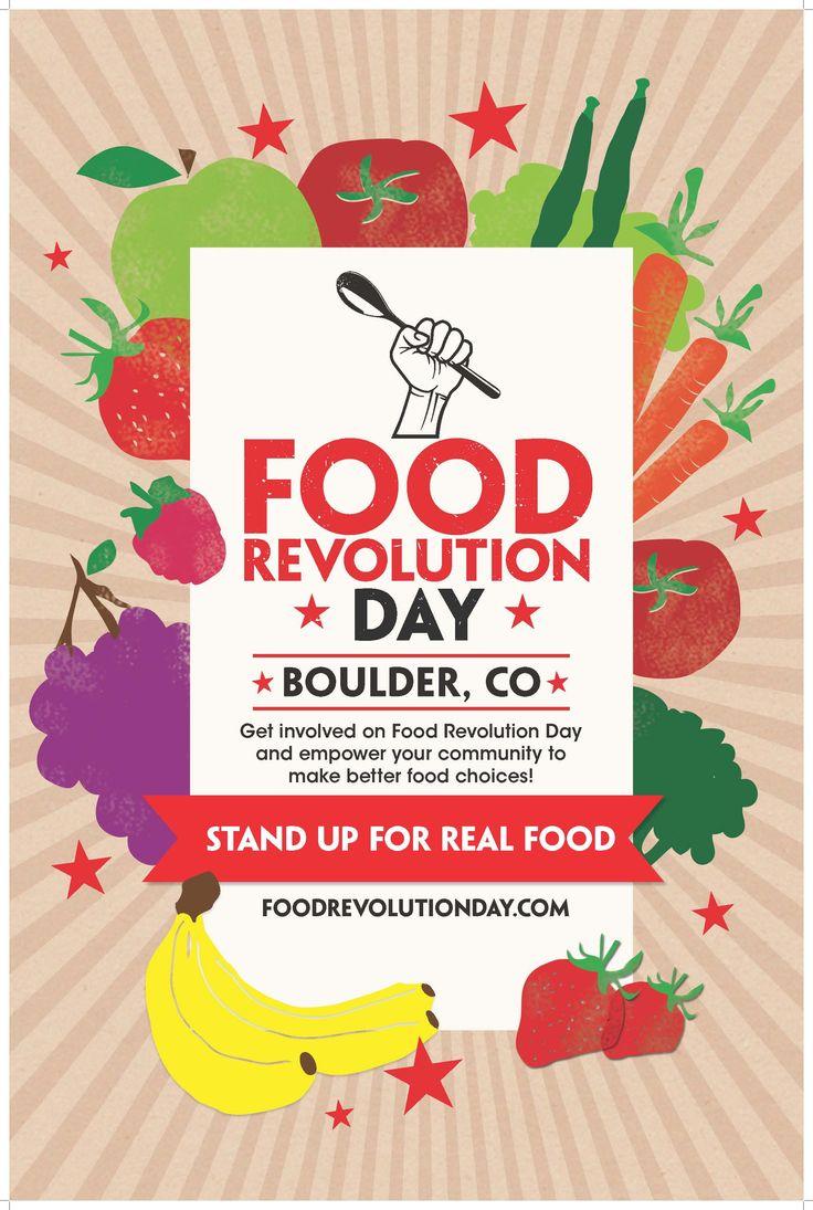 Boulder Food Revolution Day Poster