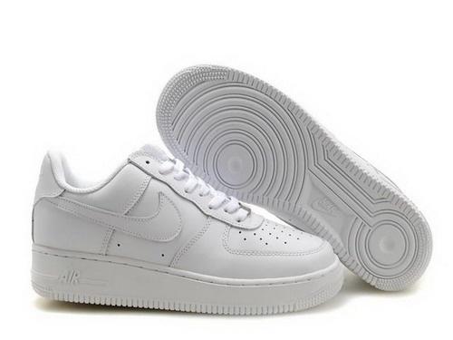 plain white air force ones