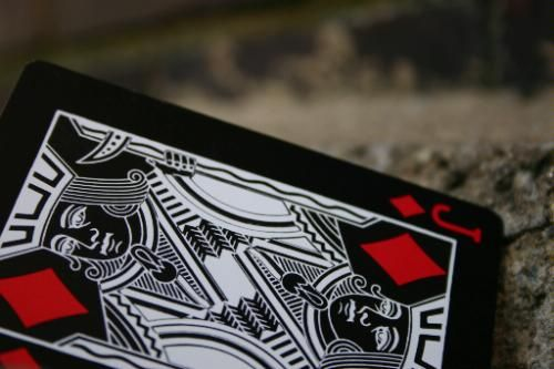Bicycle Black Tiger Playing Cards By Ellusionist - Black Pips for only ...