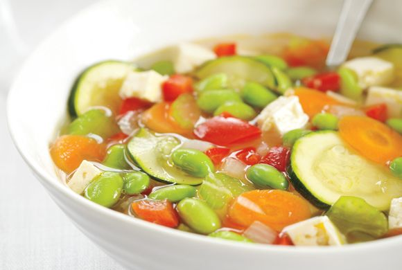 Edamame Vegetable Soup | Soup & Stew | Pinterest