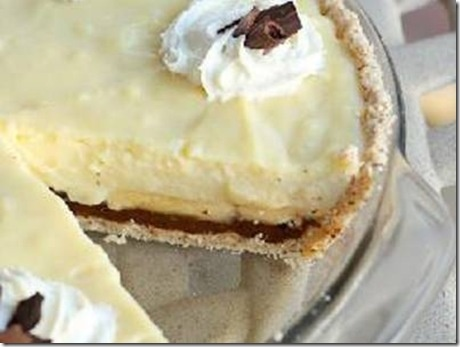 fudge and banana custard pie | Just Desserts | Pinterest