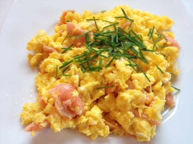 Scrambled Eggs with Smoked Salmon | Food I love | Pinterest