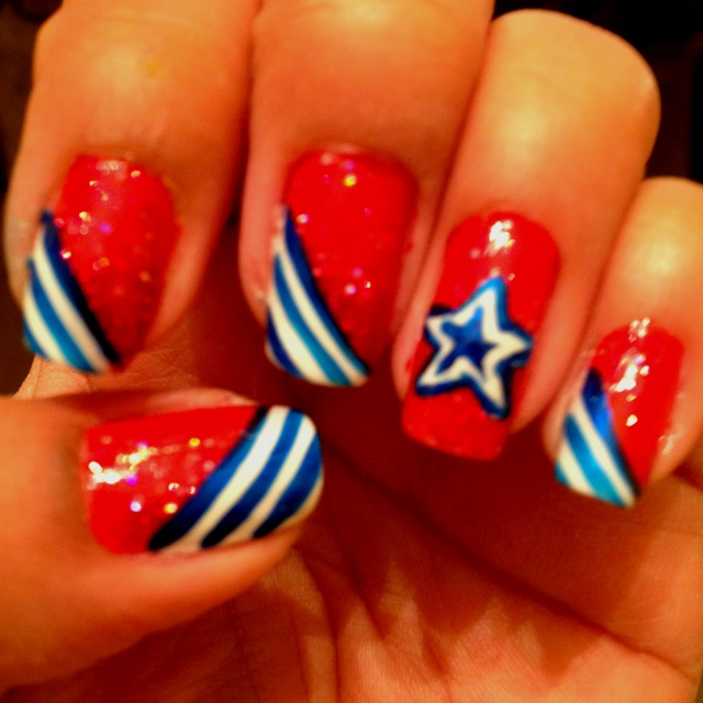 nail art designs for july 4th